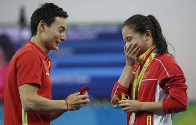 JO 2016: Une demande en mariage un peu gênante d'un médaillé chinois à Rio