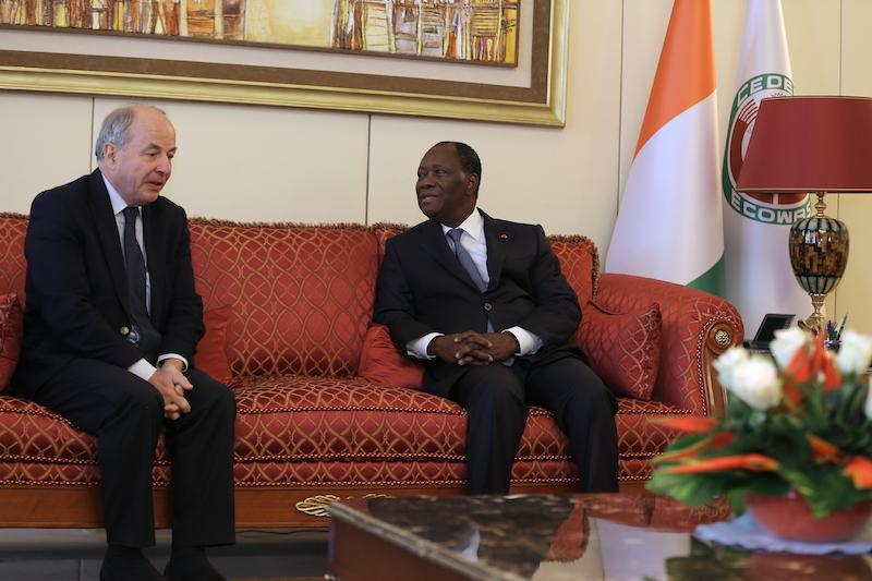 Le Chef de l'Etat a échangé avec le Directeur Général de l'International Colas.