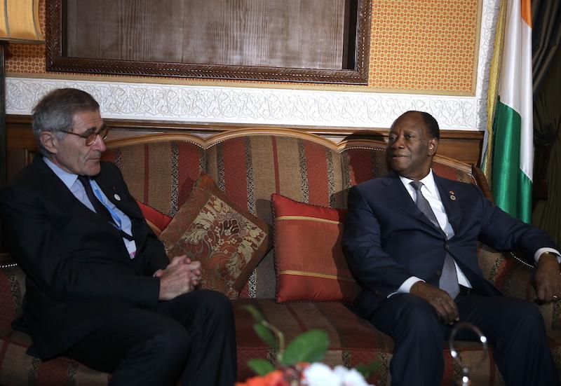 Le Chef de l'Etat a échangé avec le Président du Conseil d'Administration du Groupe ENGIE, à Marrakech.