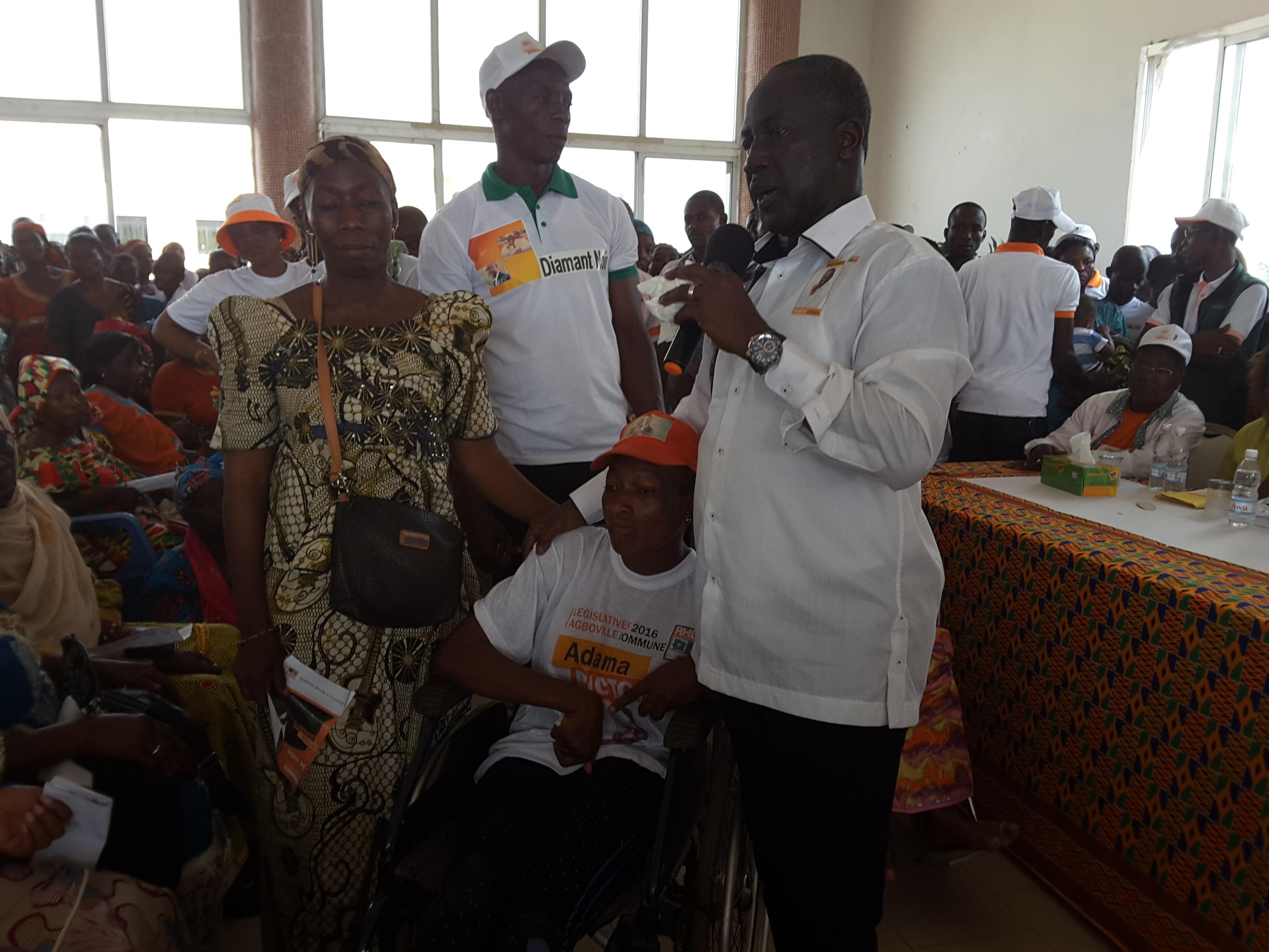 Législatives à Agboville  :  Bictogo Adama gate les populations