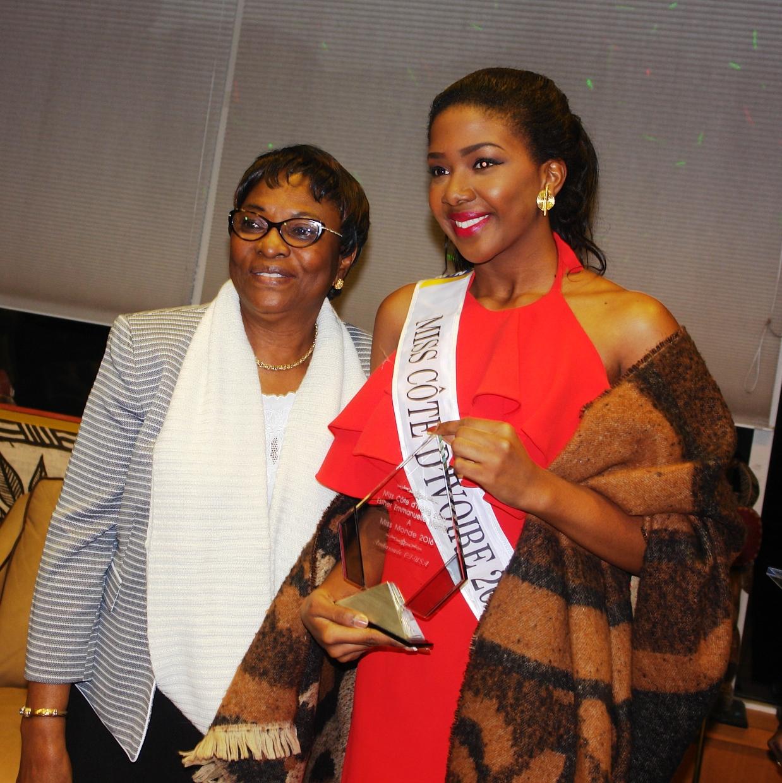 Après sa participation au Concours Miss Monde, Ester Memel honorée par la Communauté ivoirienne à Washington, DC