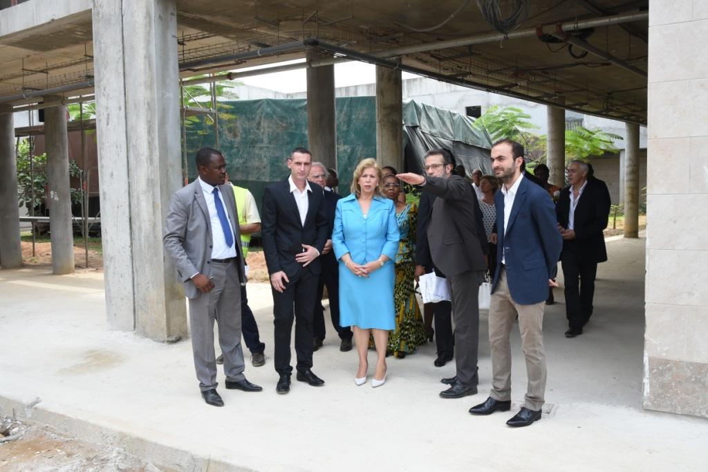 Dominique Ouattara satisfaite de l'avancement des travaux
