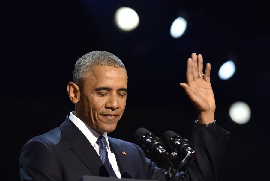 Barack Obama fait ses adieux avec un dernier discours plein d'espoir