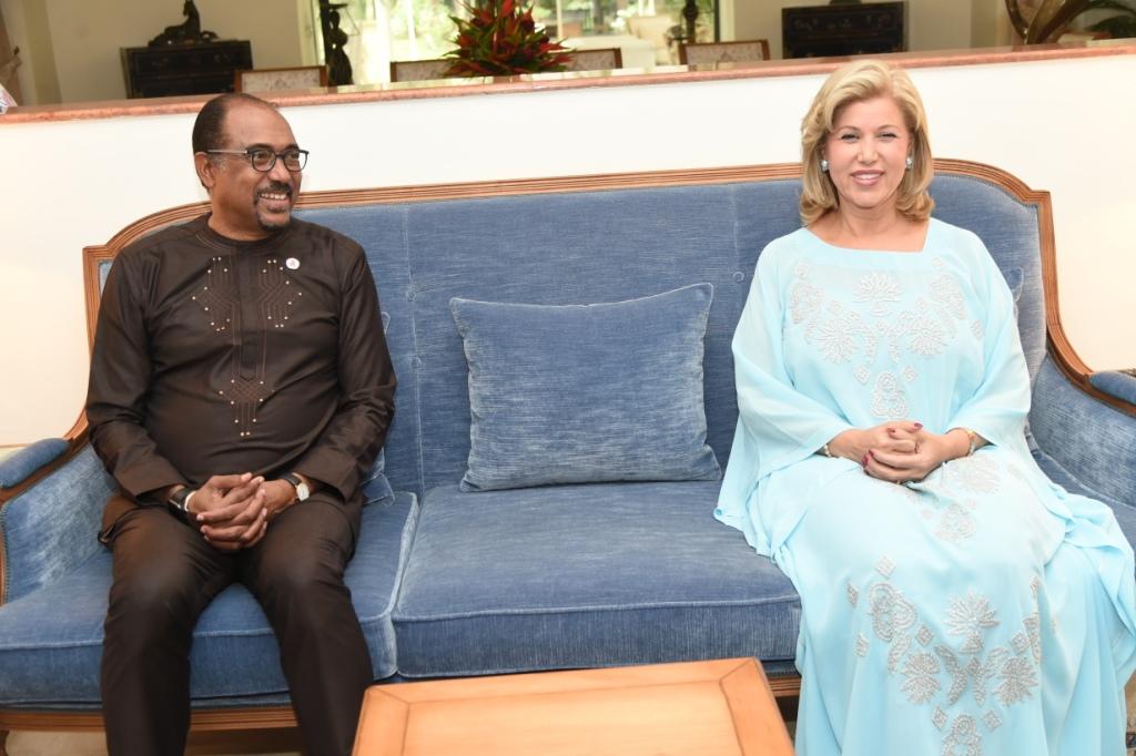 La Première Dame, Dominique Ouattara a échangé avec Michel Sidibé