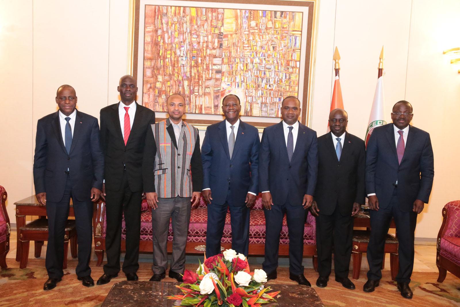 Le Chef de l'Etat a eu un entretien avec une délégation burkinabè