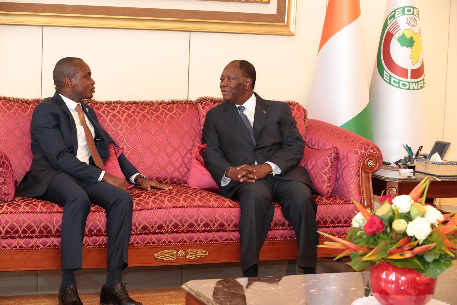 Le Chef de l'Etat a échangé avec le Président de la Cour Africaine des Droits de l'Homme et des Peuples.