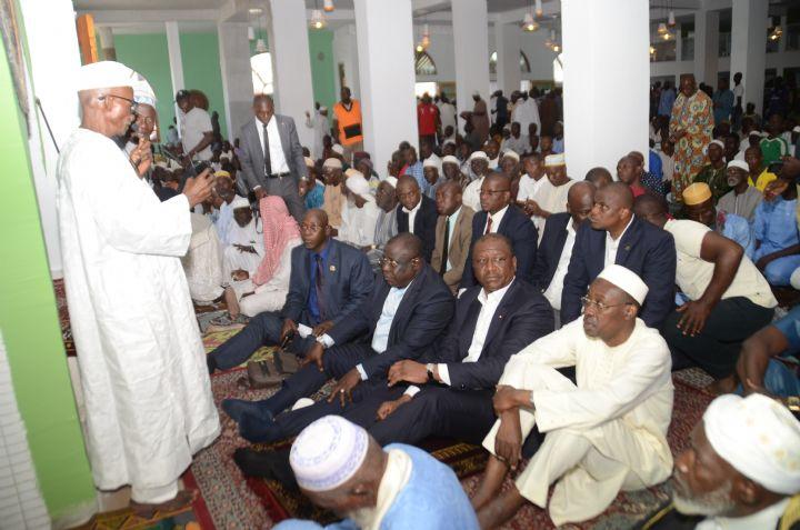Religion: Le ministre d'Etat Hamed Bakayoko visite la grande mosquée rénovée de Koumassi