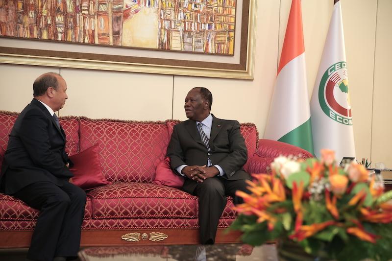Le Chef de l'Etat a échangé avec le Président du Directoire du Groupe Maroc Télécom