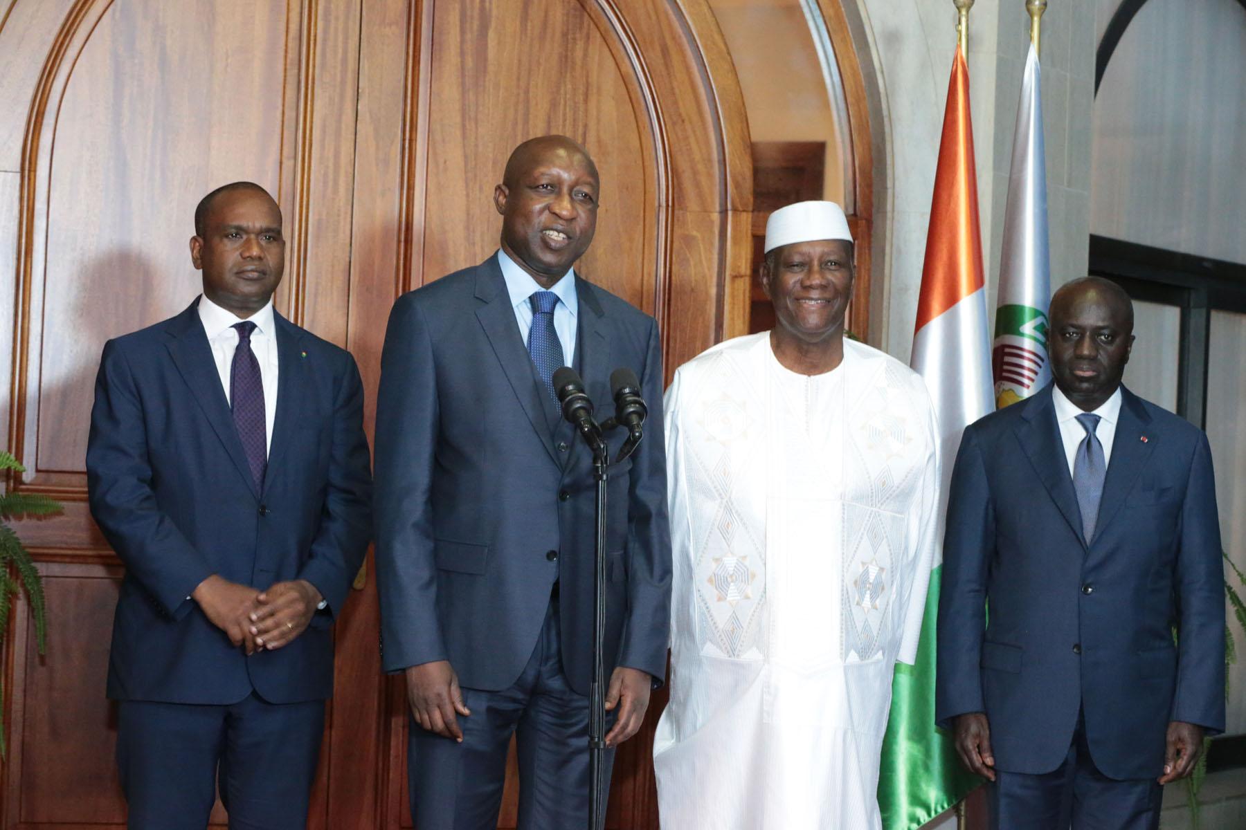 Le Chef de l'Etat a échangé avec le Premier Ministre du Burkina Faso et un Emissaire du Président de la Guinée-Equatoriale