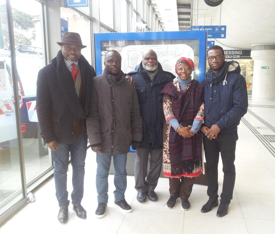 France :  : Christian Vabé rencontre Jo Mamadou, Koua Justin, et Bamba Massany