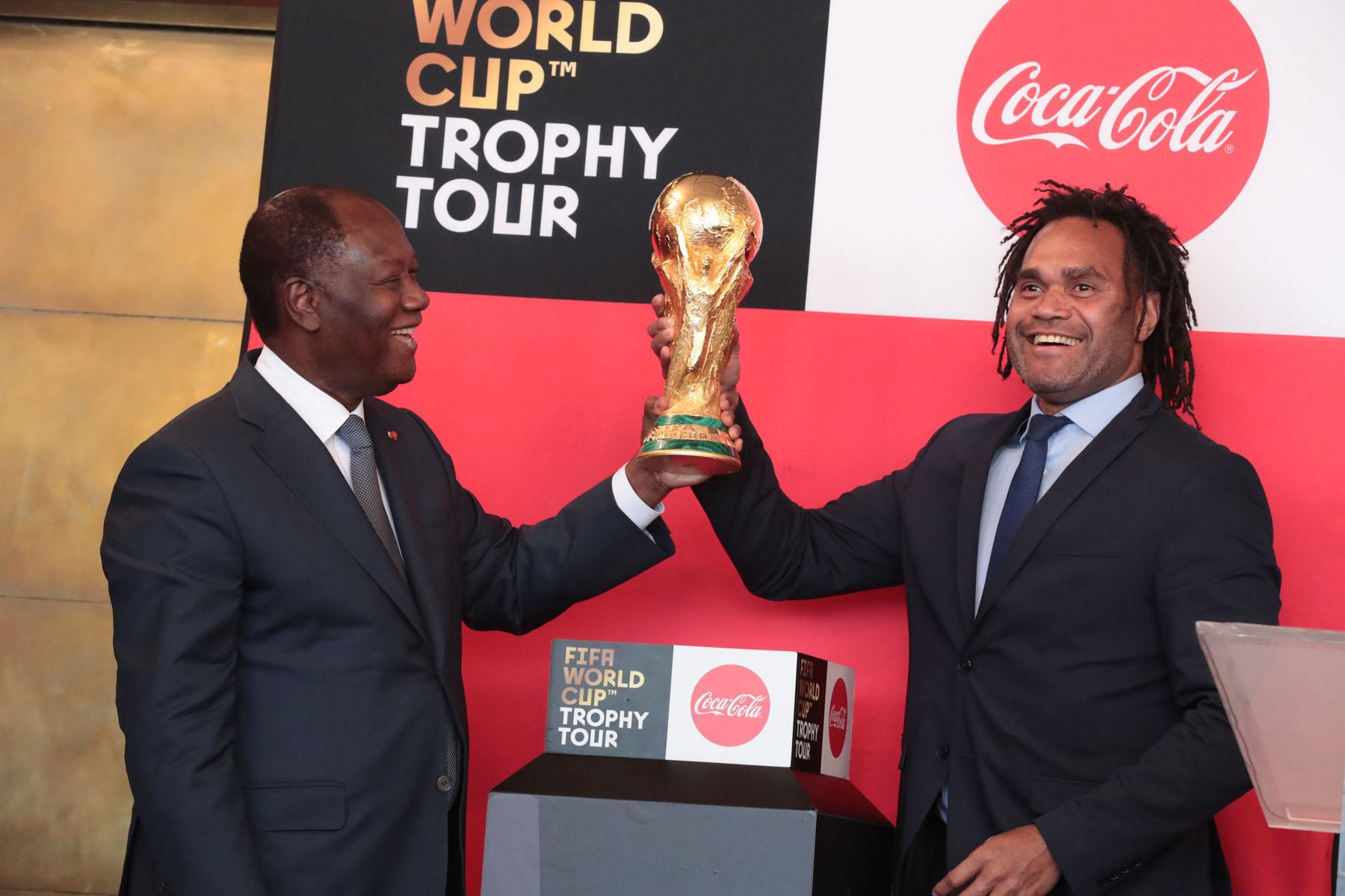 Le Chef de l'Etat a pris part à la cérémonie de présentation officielle du Trophée de la Coupe du monde de football