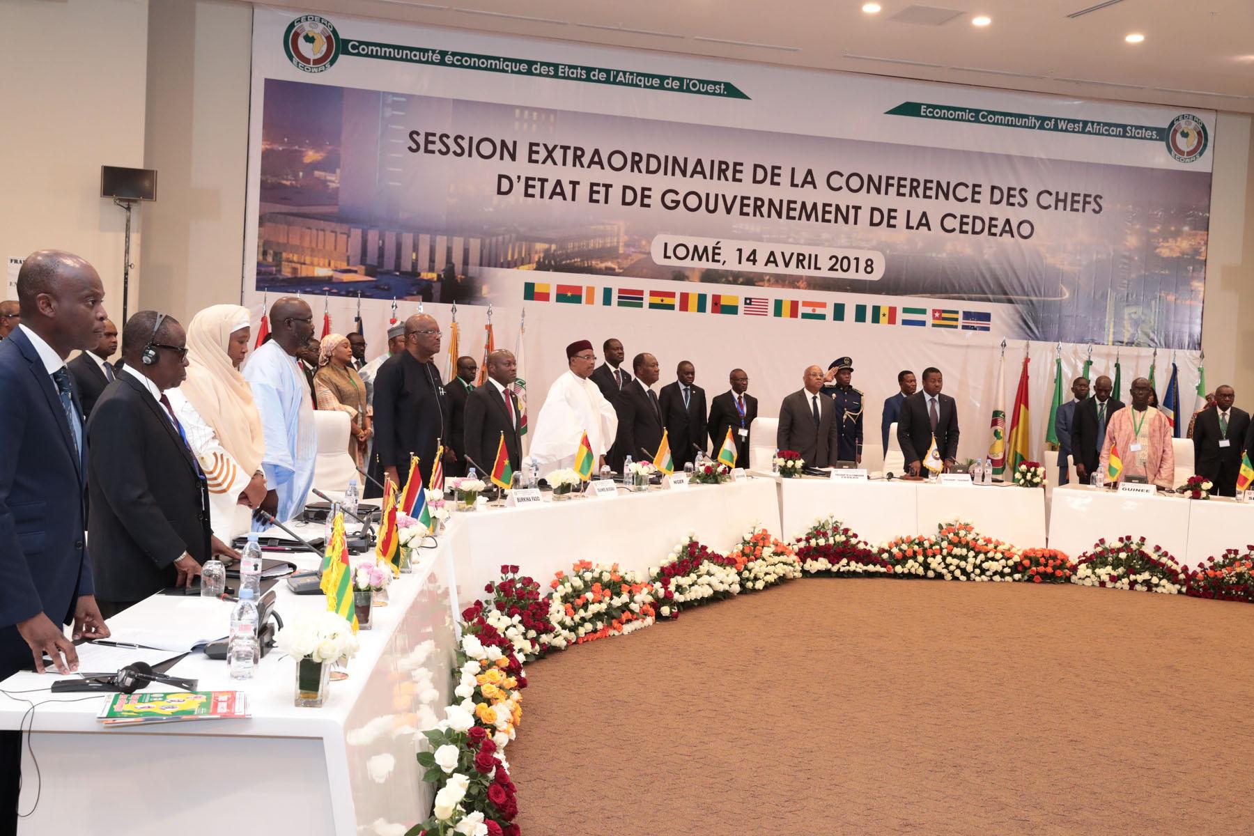 Le Chef de l'Etat a pris part à un Sommet extraordinaire des Chefs d'Etat et de Gouvernement de la CEDEAO, à Lomé