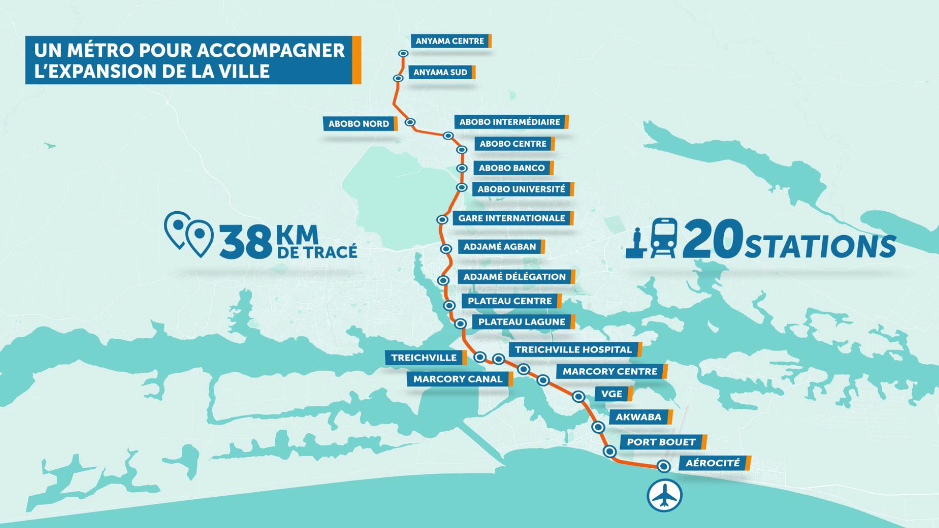 Métro d'Abidjan : Des déguerpissements et des indemnisations annoncés pour mai