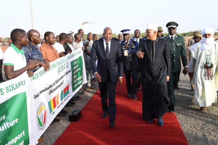 Amadou Gon Coulibaly au Mali pour la signature du projet de création d'une Zone Economique Spéciale (ZES) Sikasso-Korhogo-Bobo-Dioulasso (SKBO)