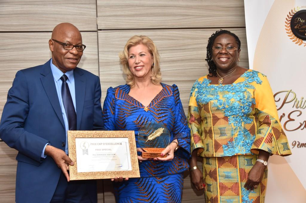 9ème édition du prix CNP d'Excellence : Dominique Ouattara reçoit un prix spécial