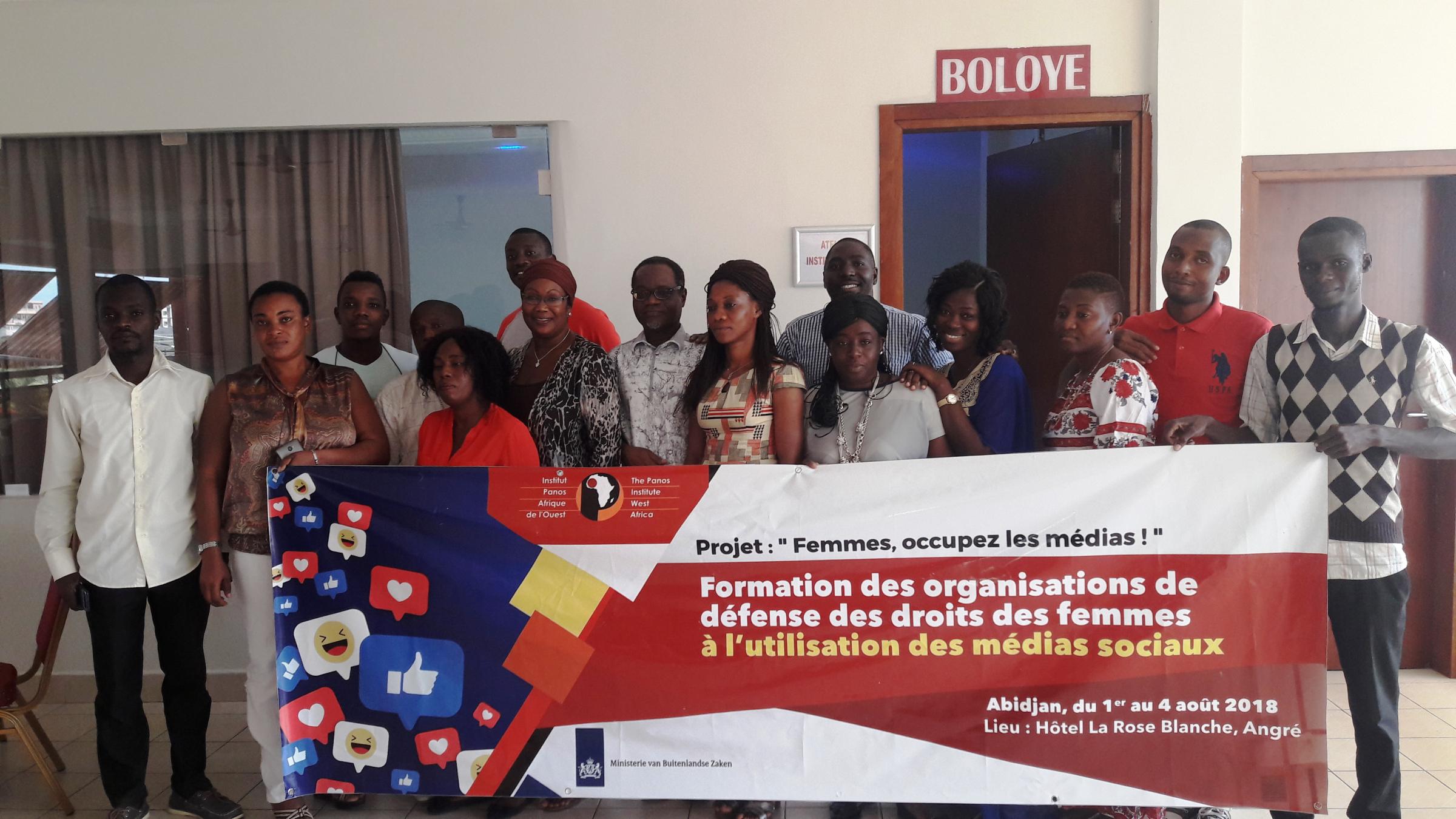 Utilisation optimale des médias sociaux : Des acquis pour des organisations de défense des droits des femmes en Côte d'Ivoire