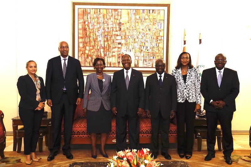 Le Chef de l'Etat a eu un entretien avec la Ministre rwandaise des Affaires Etrangères, de la Coopération et de la Communauté de l'Afrique de l'Est