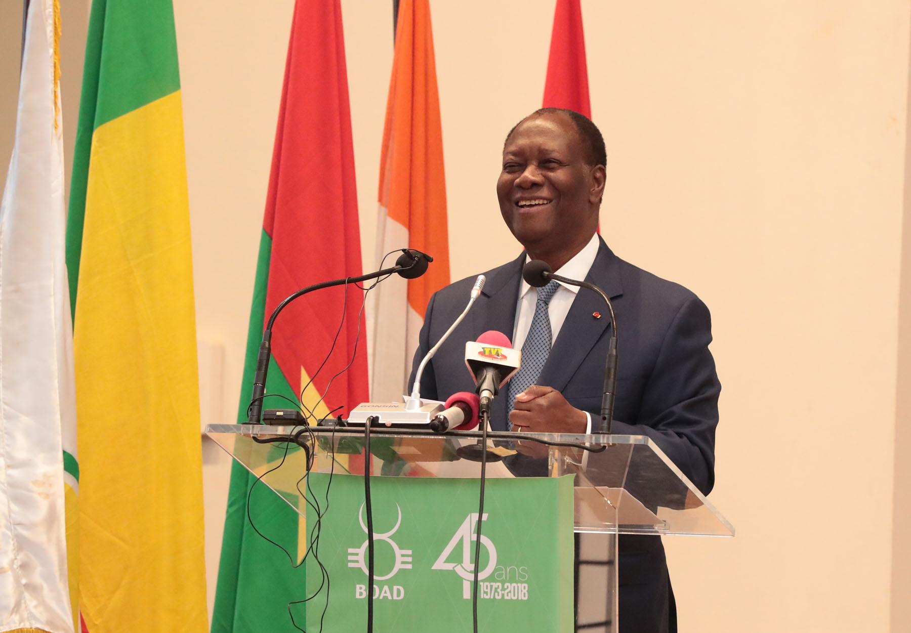 Le Chef de l'Etat a présidé la cérémonie de commémoration du 45e anniversaire de la BOAD.