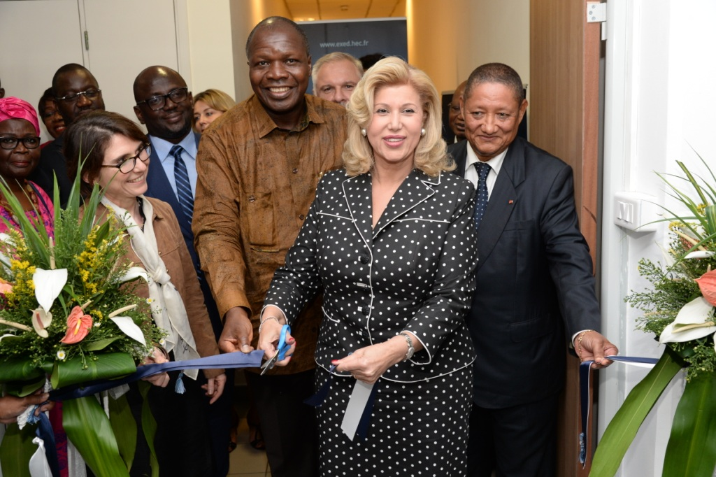 Enseignement supérieur:   La Première Dame inaugure le bureau Côte d'Ivoire de HEC-Paris