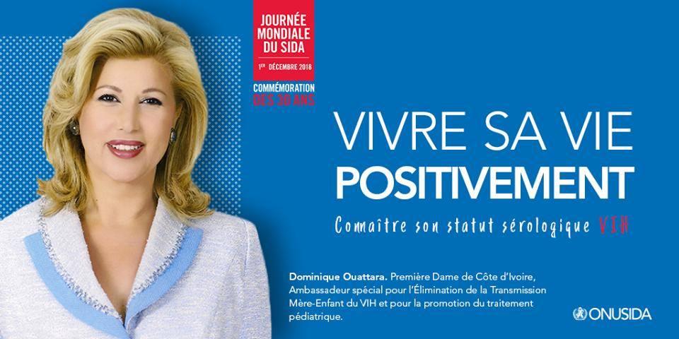 Message de  Dominique Ouattara à l'occasion de la Journée Mondiale de lutte contre le SIDA