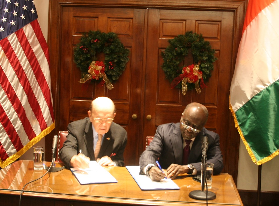 Côte d'Ivoire /Etats-Unis : Signature d'un protocole d'accord