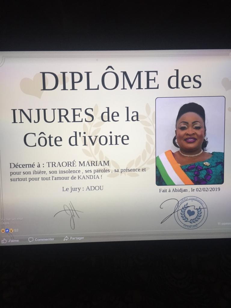 Côte d'Ivoire :  la députée RDR de Tengrela, coutumière du dérapage langagier.....