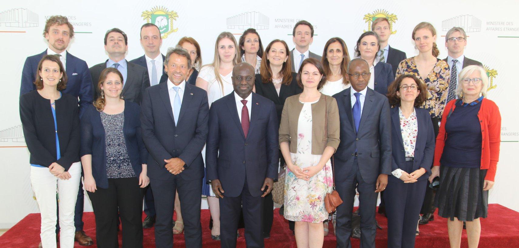 Une délégation de l'Union Européenne  prend connaissance de la vision ivoirienne