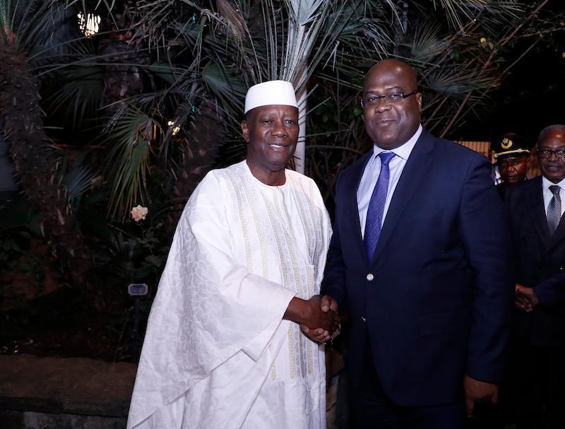Côte-d'Ivoire: Première rencontre entre Ouattara et Tshisekedi, président du Congo RDC