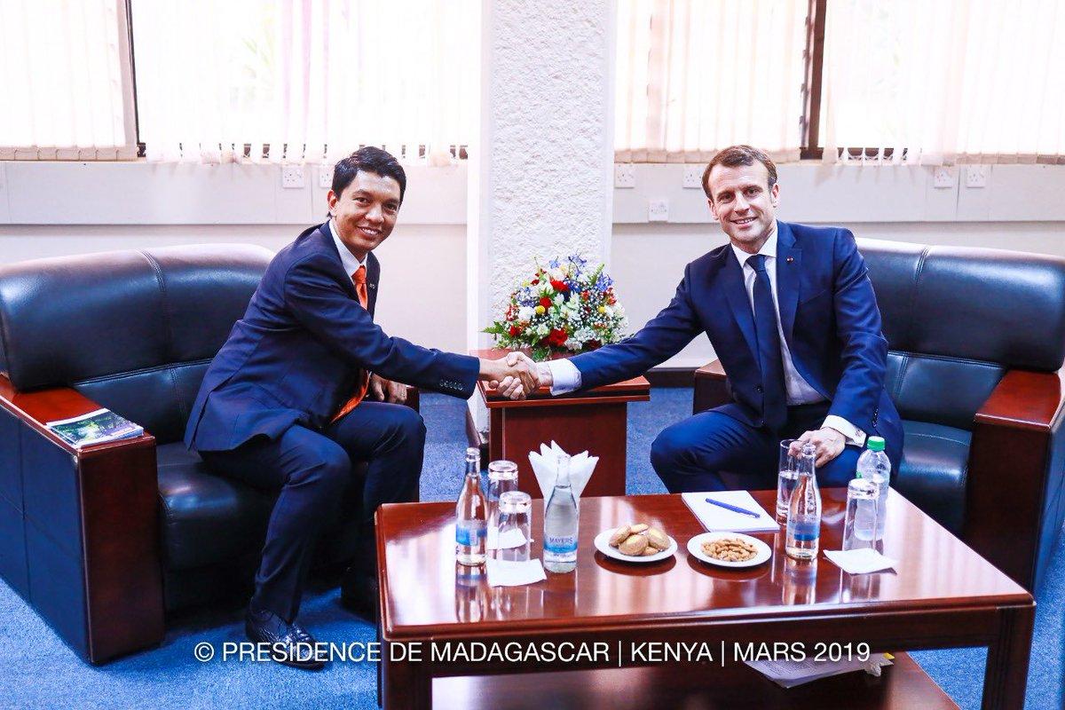 Rencontre Macron-Rajoelina à Nairobi