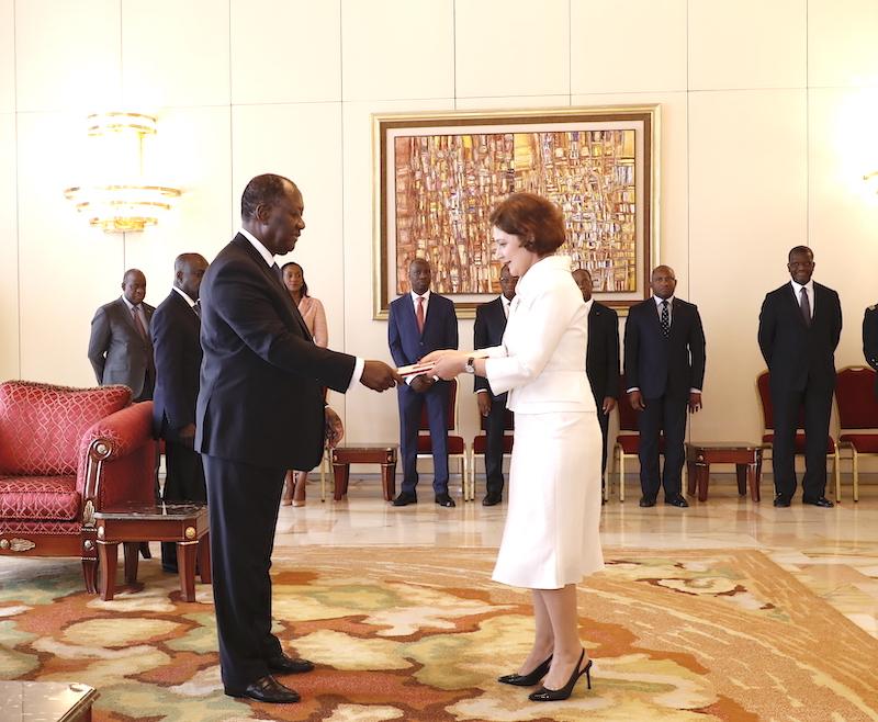 Le Chef de l'Etat a reçu les Lettres de créance de cinq nouveaux Ambassadeurs
