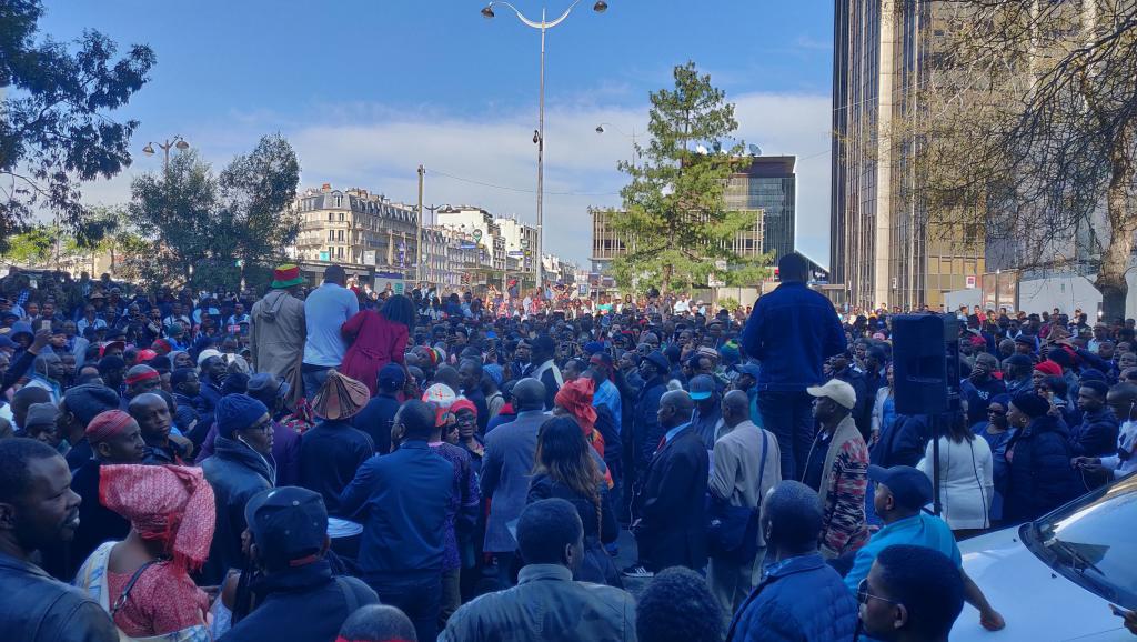 France: manifestation de soutien aux Peuls du Mali à Paris
