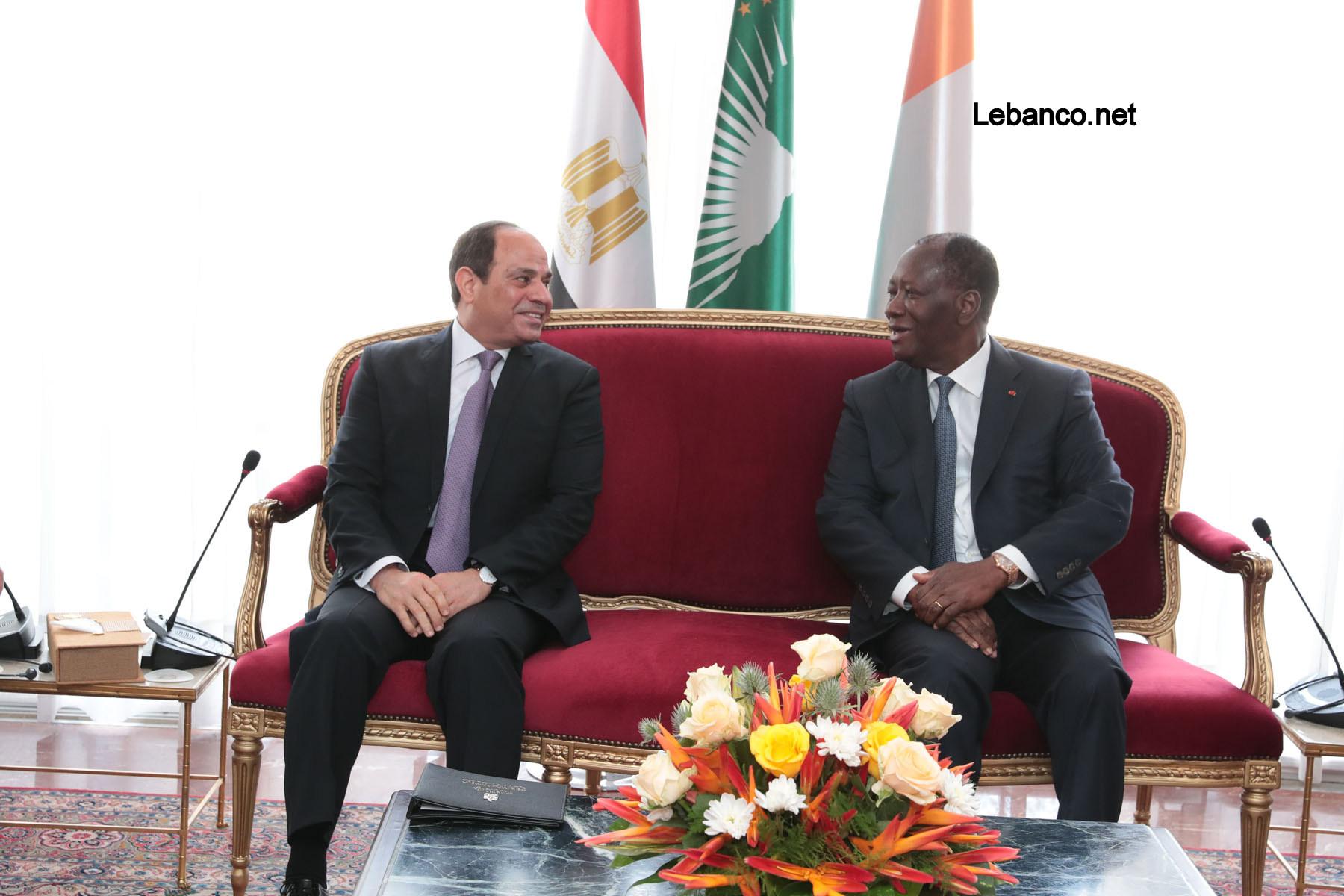 Le Chef de l'Etat a eu un entretien avec son homologue égyptien