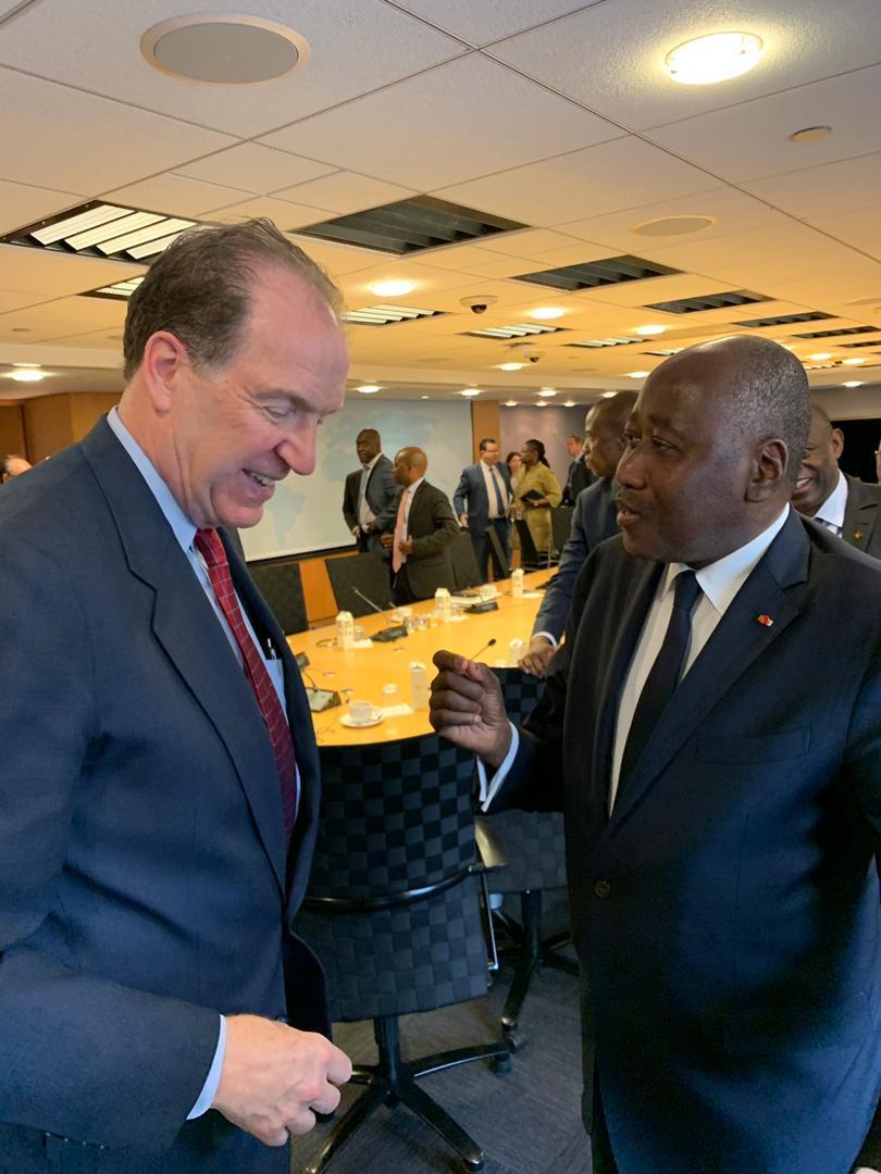 Côte d'Ivoire-Banque mondiale : le nouveau président de la Banque mondiale, David Malpass, entend apporter tout le soutien nécessaire à la Côte d'Ivoire