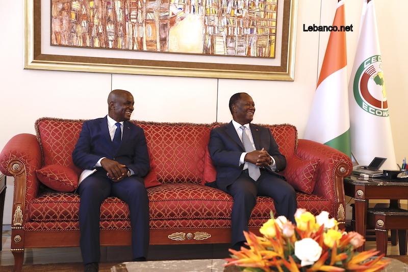 Le Chef de l'Etat a échangé avec le Président du Groupe NSIA