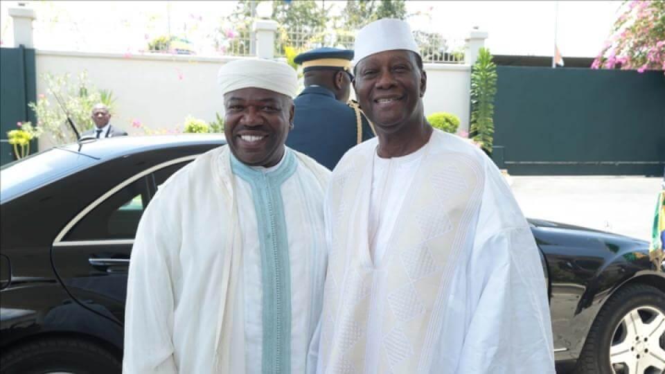 Alassane Ouattara en visite officielle à Libreville