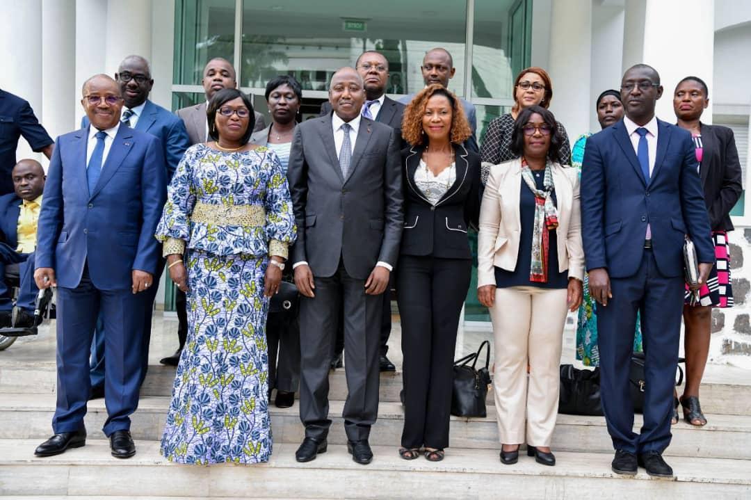 Droit de l'Homme : le nouveau bureau du Conseil National des Droits de l'Homme (CNDH) présenté au Premier Ministre Amadou Gon Coulibaly