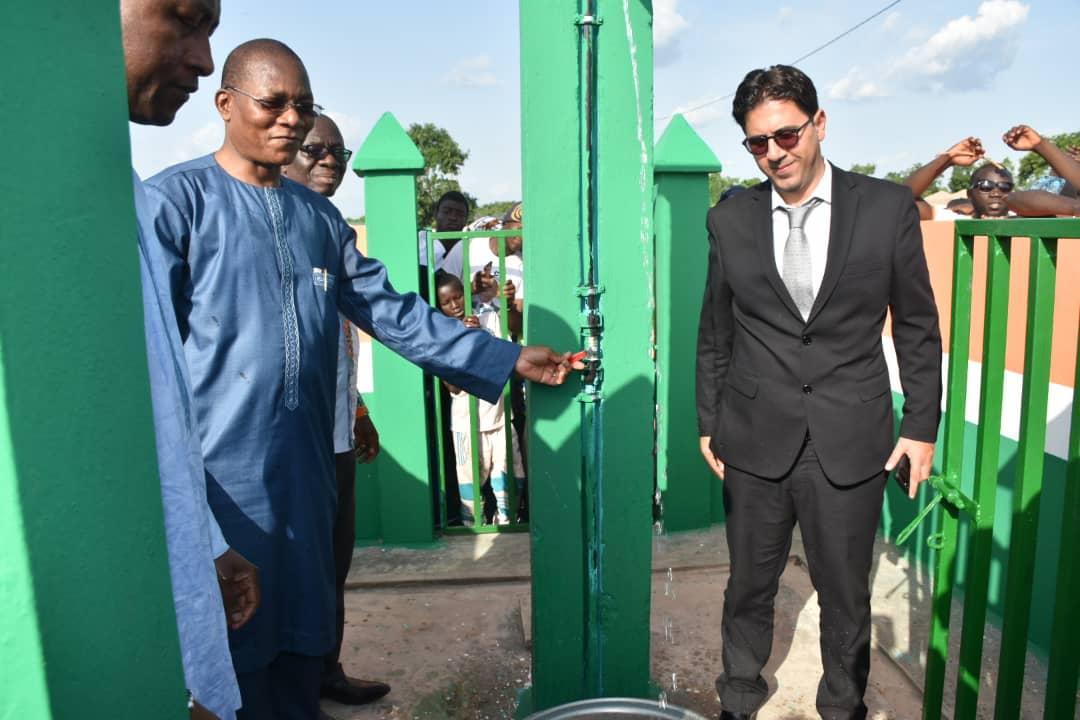 Côte d ivoire : Bruno Koné inaugure le forage du village de Pongafré
