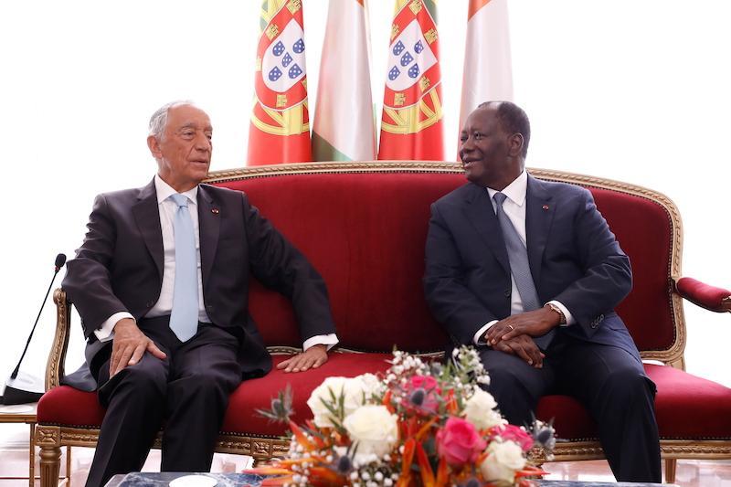 Le Chef de l'Etat a eu un entretien avec le Président portugais, en visite d'Etat à Abidjan