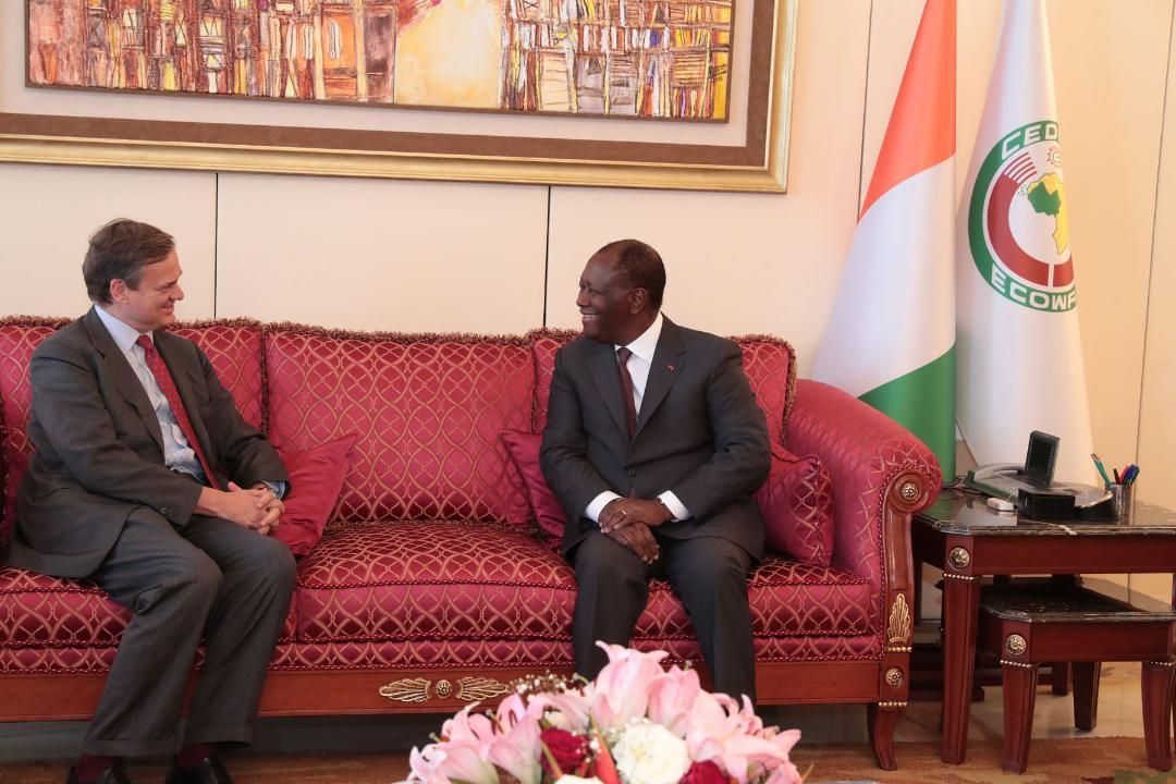 Le Chef de l'Etat a eu un entretien avec le Président du Conseil d'administration du Groupe Société Générale