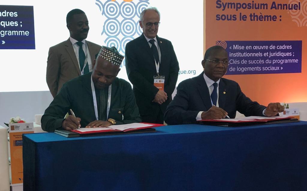 Shelter Afrique ,Marrakech : Bruno Koné obtient la signature d'un protocole d'accord portant sur la construction de 3000 logements sociaux à Abidjan.