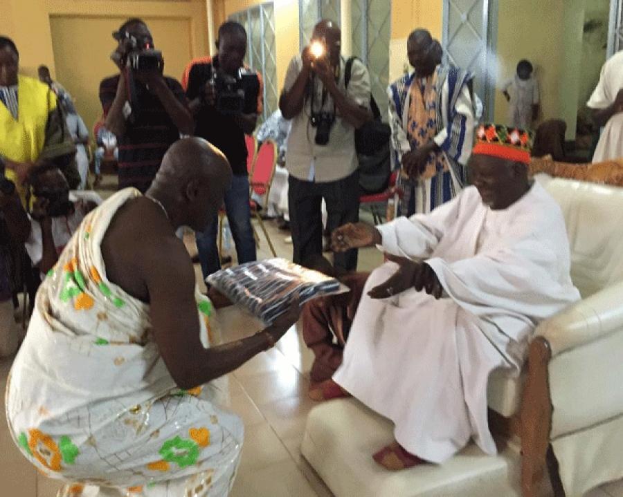 En visite chez le Mogho Naaba Bâongo: Amoa Urbain prône le pardon et la réconciliation