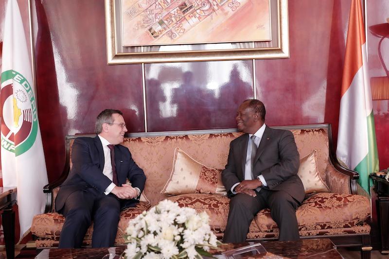 Le Chef de l'Etat a eu un entretien avec l'Ambassadeur de Suisse en Côte d'Ivoire