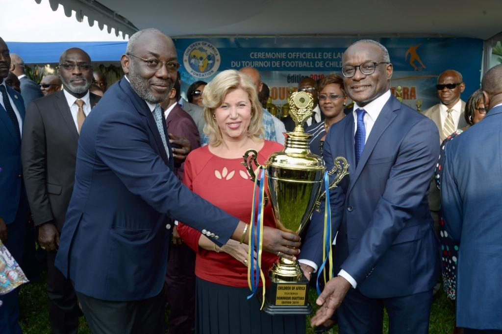 Dominique Ouattara lance la 12ème édition du tournoi de  football de Children Of Africa dans 60 localités du pays