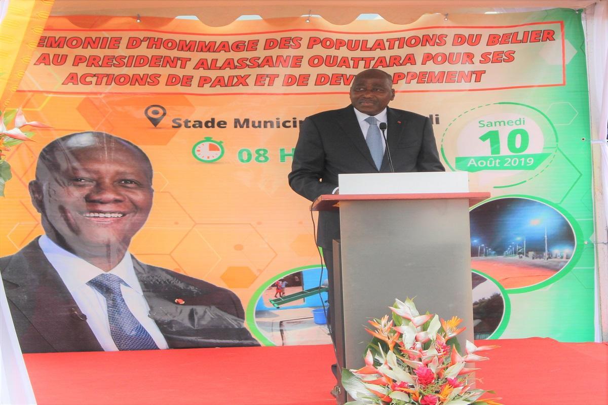 Hommage au chef de l'Etat : Amadou Gon lance un message fort aux populations du Bélier