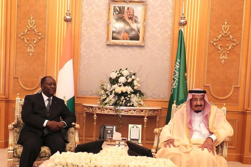 Visite d'Etat : Alassane Ouattara reçu par le roi Salmane