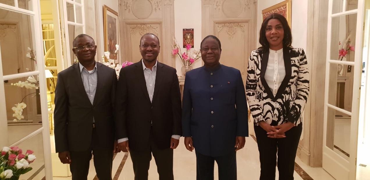 Paris: Guillaume Soro rend visite à Henri Konan Bédié