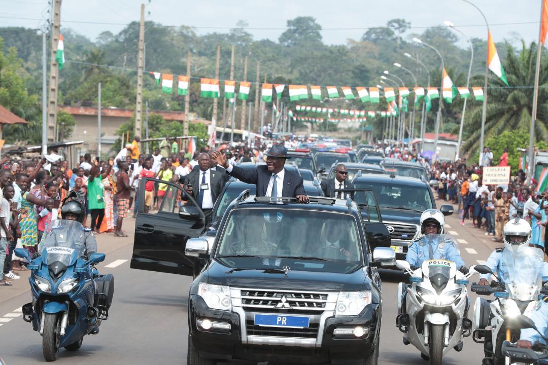 Dimbokro:  Grande mobilisation pour accueillir le Chef de l'Etat