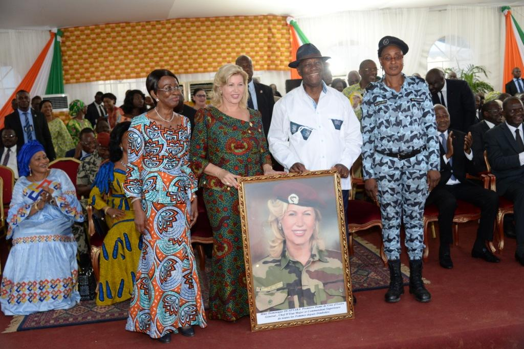 Visite d'Etat dans le N'ZI: La Première Dame faite chef d'Etat-major des femmes