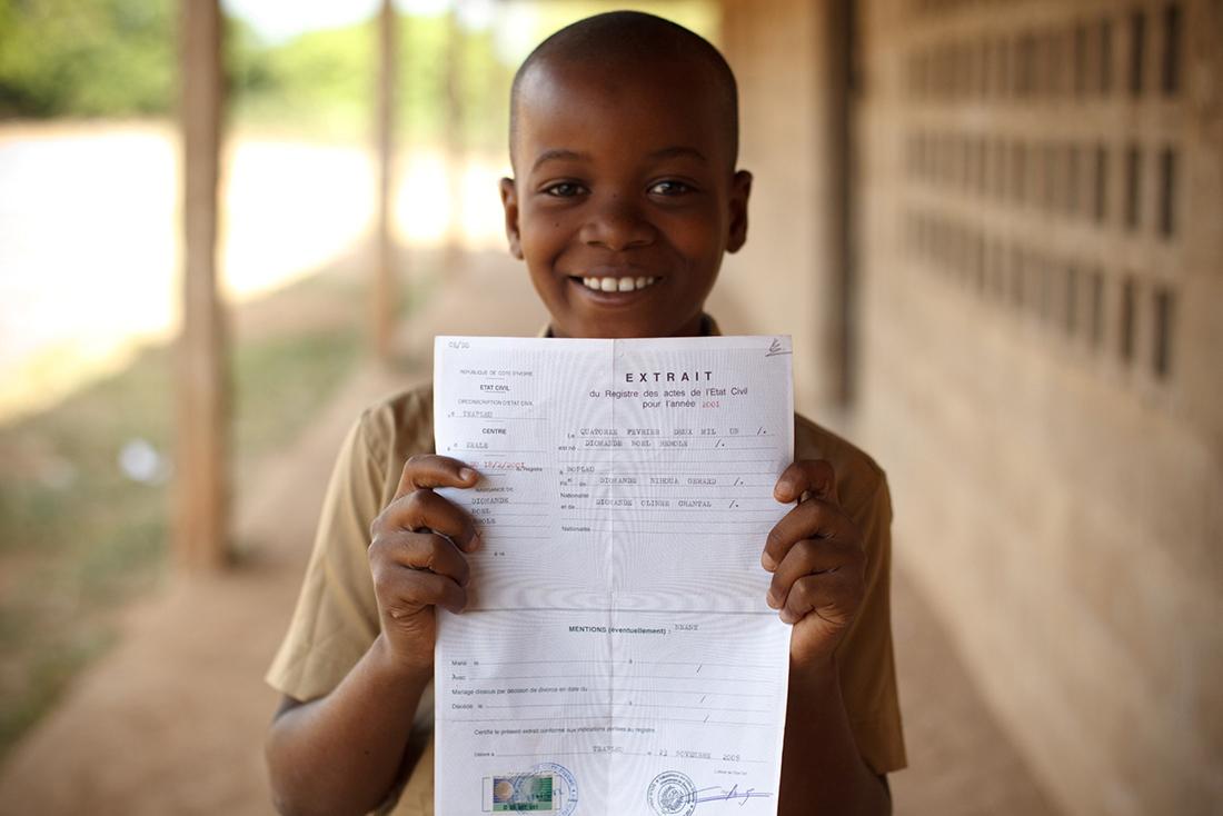 Côte d'Ivoire/ Déclaration des naissances: 1 millions d'enfants vivent sans identité