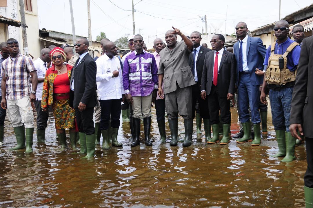 Le vice-Président Duncan annonce aux Bassamois le démarrage immédiat des grands travaux de pompage des eaux et d'ouverture de l'embouchure